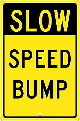 Slow Speed Bump, 18X12, .080 Hip Ref Aluminum
