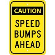 Caution Speed Bumps Ahead, 18X12, .080 Egp Ref Aluminum