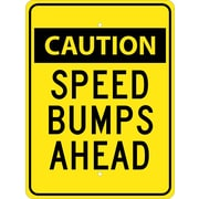 Caution Speed Bumps Ahead, 24X18, .080 Egp Ref Aluminum