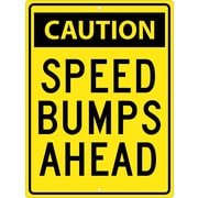 Caution Speed Bumps Ahead, 24X18, .080 Hip Ref Aluminum