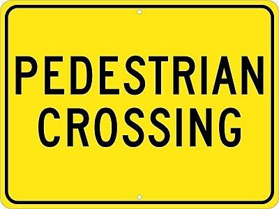 Pedestrian Crossing, 18X24, .080 Hip Ref Aluminum