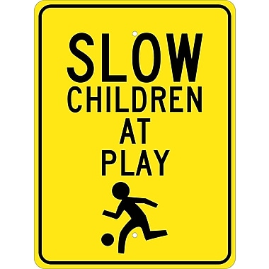 Slow Children At Play Graphic 24X18, .080 Egp Ref Aluminum