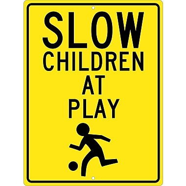 Slow Children At Play Graphic 24X18, .080 Hip Ref Aluminum