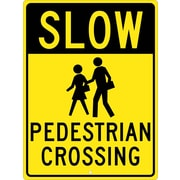 Slow (Graphic) Pedestrian Crossing 24X18, .080 Hip Ref Aluminum