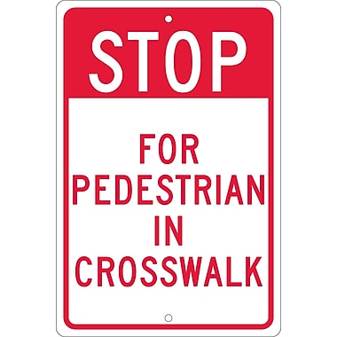 Stop for Pedestrian In Crosswalk, 18