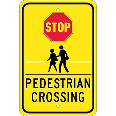 Stop Graphic Pedestrian Crossing, 18