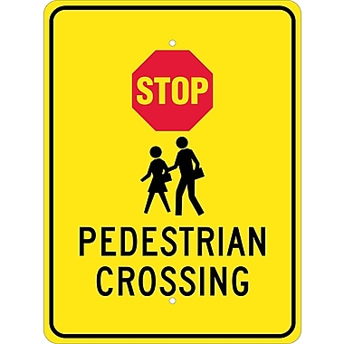 Stop Graphic Pedestrian Crossing, 24