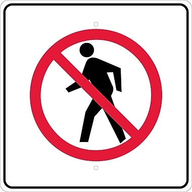 Graphic, No Pedestrian Crossing Symbol, 24X24, .080 Egp Ref Aluminum
