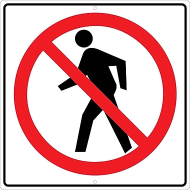 Graphic, No Pedestrian Crossing Symbol, 24