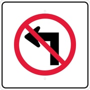 Graphic, No Left Turn Arrow Symbol, 24X24, .080 Egp Ref Aluminum