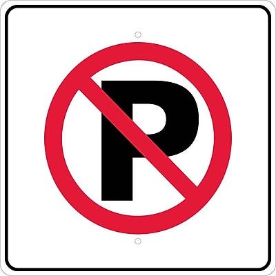 Graphic, No Parking Symbol, 24X24, .080 Egp Ref Aluminum