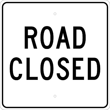 Road Closed 24X24 .080 Egp Ref Aluminum.