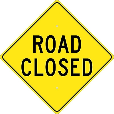 Road Closed, 24X24, .080 Hi Reef Aluminum