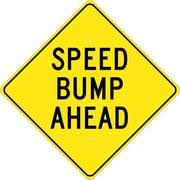 Speed Bump Ahead, 24X24, .080 Hip Ref Aluminum