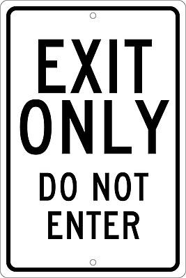 Exit Only Do Not Enter, 18X12, .080 Hip Ref Aluminum