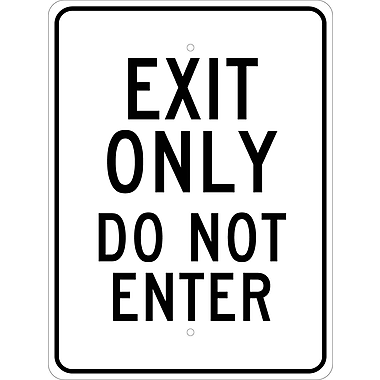 Exit Only Do Not Enter, 24X18 .080 Egp Ref Aluminum