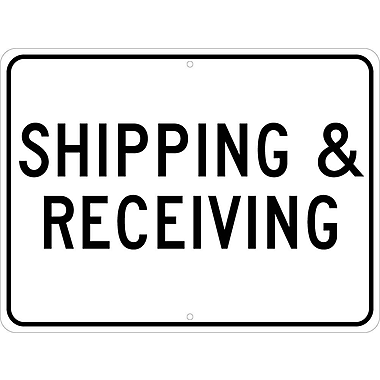 Shipping & Receiving, 18X24, .080 Egp Ref Aluminum