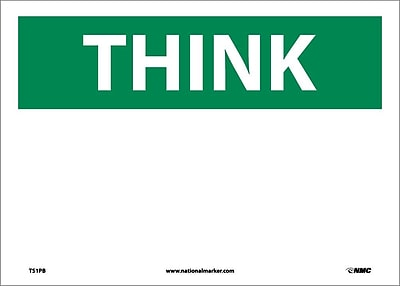 Think, (Heading Only), 10X14, Adhesive Vinyl