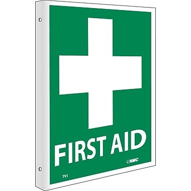 First Aid, Flanged, 10X8, Rigid Plastic