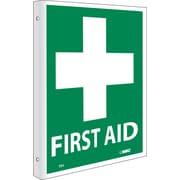 "First Aid, Flanged, 10"" x 8"", Rigid Plastic"