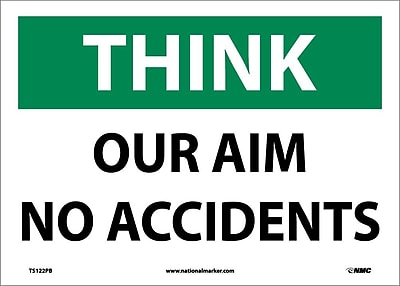 Think, Our Aim No Accident, 10X14, Adhesive Vinyl