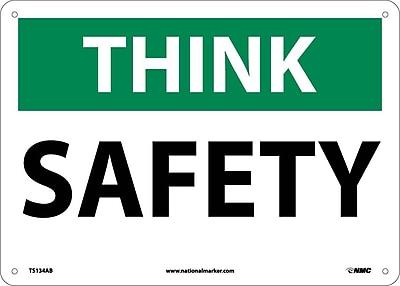 Think, Safety, 10X14, .040 Aluminum
