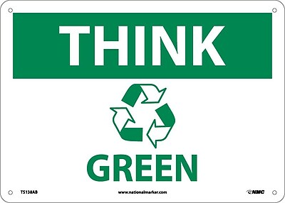 Think (Graphic) Green, 10X14, .040 Aluminum