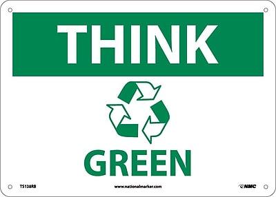 Think (Graphic) Green, 10X14, Rigid Plastic