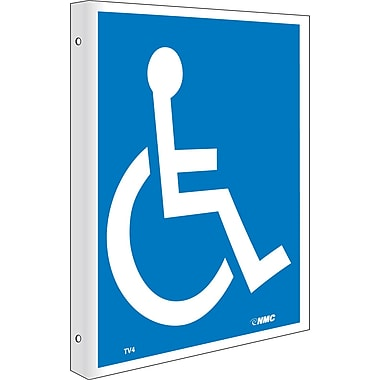 Handicapped Symbol, Flanged, 10