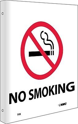 No Smoking, Flanged, 10X8, Rigid Plastic