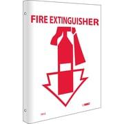 Fire Extinguisher, Flanged, 10X8, Rigid Plastic