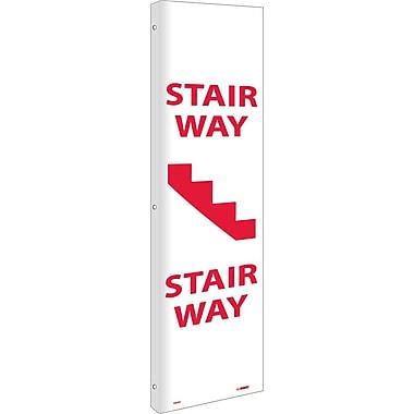 Flange, Stairway, 18X4, Rigid Plastic