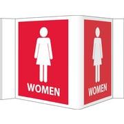 Visi Sign, Women, Red, 5 3/4X8 3/4, .125 PVC Plastic