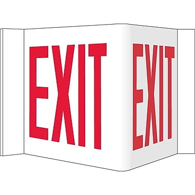 Visi Sign, Exit, White, 8