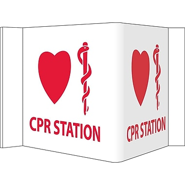 Visi, Cpr Station, 8X14.5, PVC Plastic