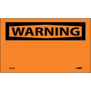 Warning, (Header Only), 3X5, Adhesive Vinyl, 5/Pk