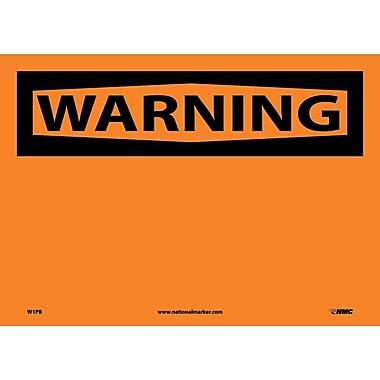 Warning, (Header Only), 10X14, Adhesive Vinyl