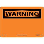 Warning, (Header Only), 7X10, Rigid Plastic
