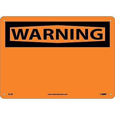 Warning, (Header Only), 10X14, Rigid Plastic