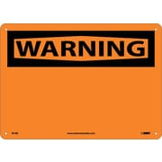 Warning, (Header Only), 10X14, Rigid Plastic