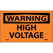 Warning, High Voltage, 3X5, Adhesive Vinyl, 5/Pk