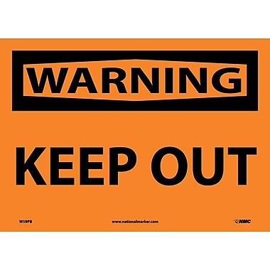 Warning, Keep Out, 10X14, Adhesive Vinyl