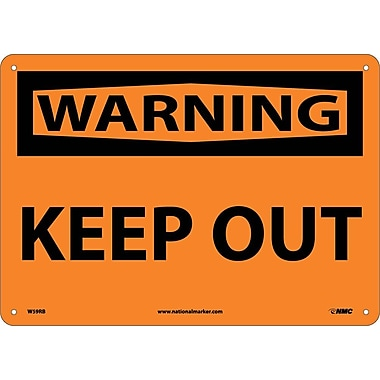 Warning, Keep Out, 10X14, Rigid Plastic
