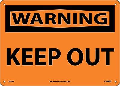 Warning, Keep Out, 10X14, Rigid Plastic