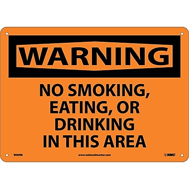Warning, No Smoking Eating Or Drinking In This Area, 10