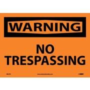 Warning, No Trespassing, 10X14, Adhesive Vinyl