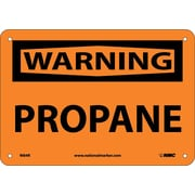 Warning, Propane, 7X10, Rigid Plastic