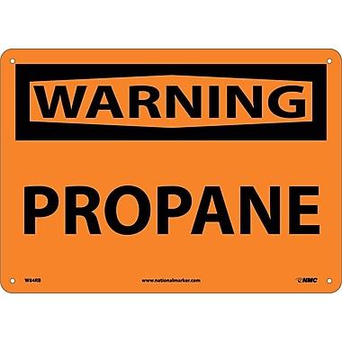 Warning, Propane, 10X14, Rigid Plastic