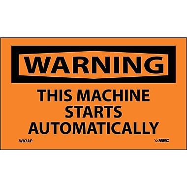 Warning, This Machine Starts Automatically, 3