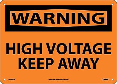 Warning, High Voltage Keep Away, 10X14, Fiberglass